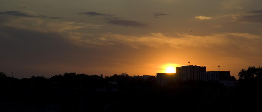 Приднестровье на закате