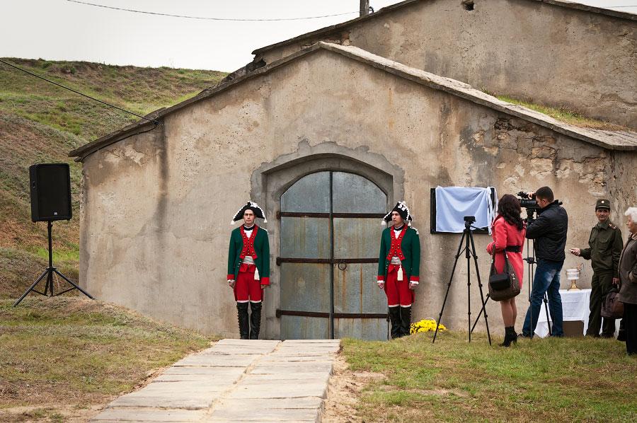 Установка мемориальной доски у бастиона Святого Владимира (Тирасполь, крепость Срединная) (4)