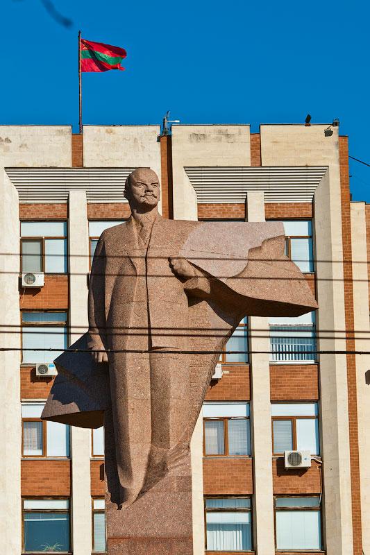 Годовщина Великой Октябрьской Социалистической Революции - митинг в Тирасполе (1)