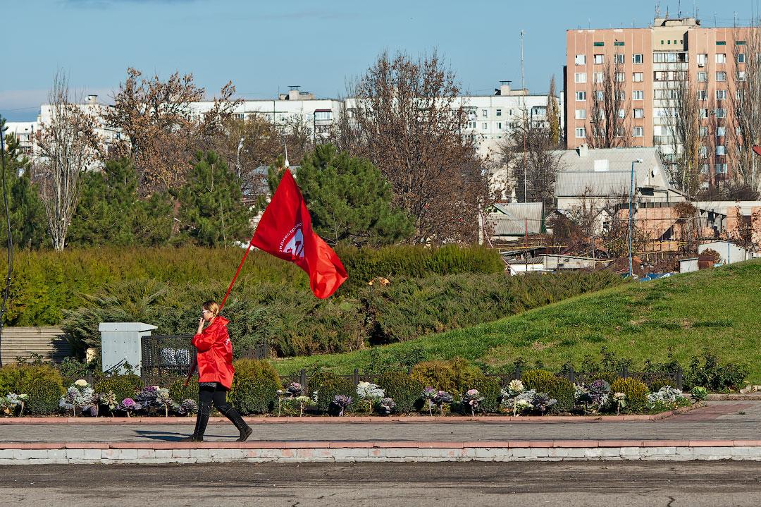 Годовщина Великой Октябрьской Социалистической Революции - митинг в Тирасполе (2)