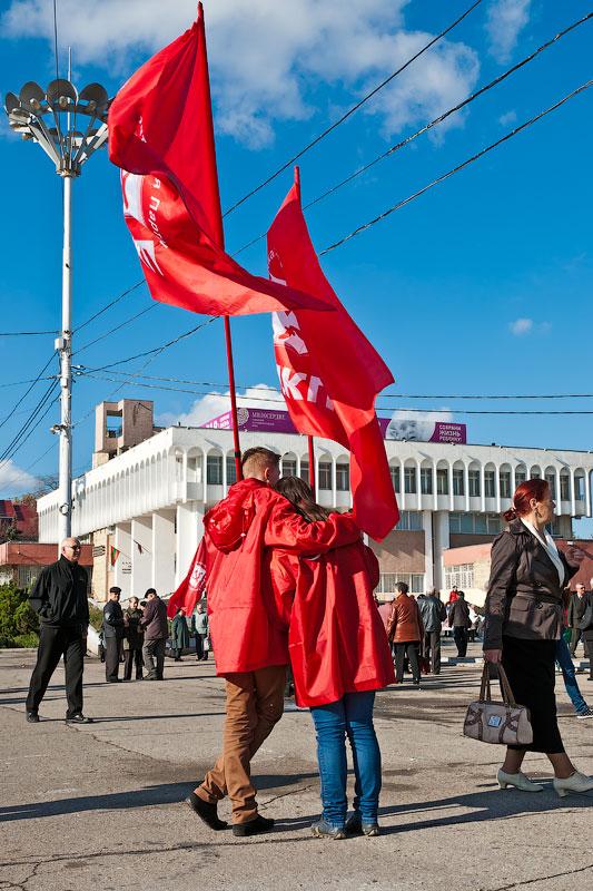 Годовщина Великой Октябрьской Социалистической Революции - митинг в Тирасполе (4)