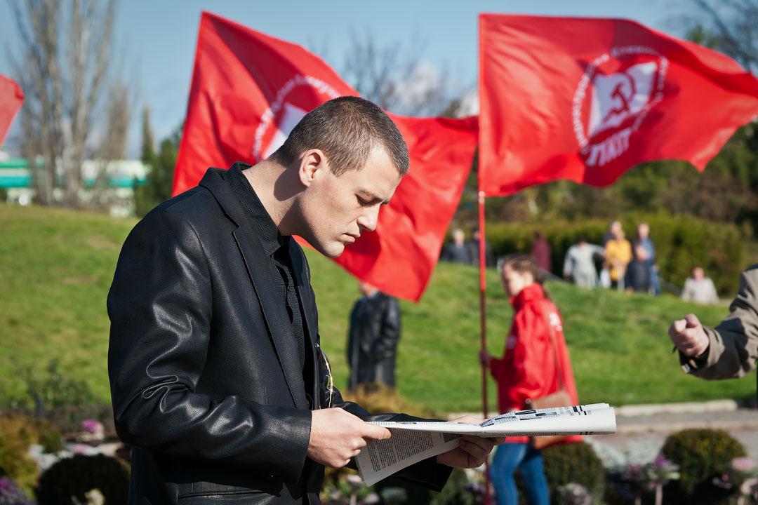 Годовщина Великой Октябрьской Социалистической Революции - митинг в Тирасполе (6)