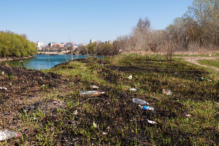 Мусор на берегу Днестра в окрестностях Тирасполя (6)