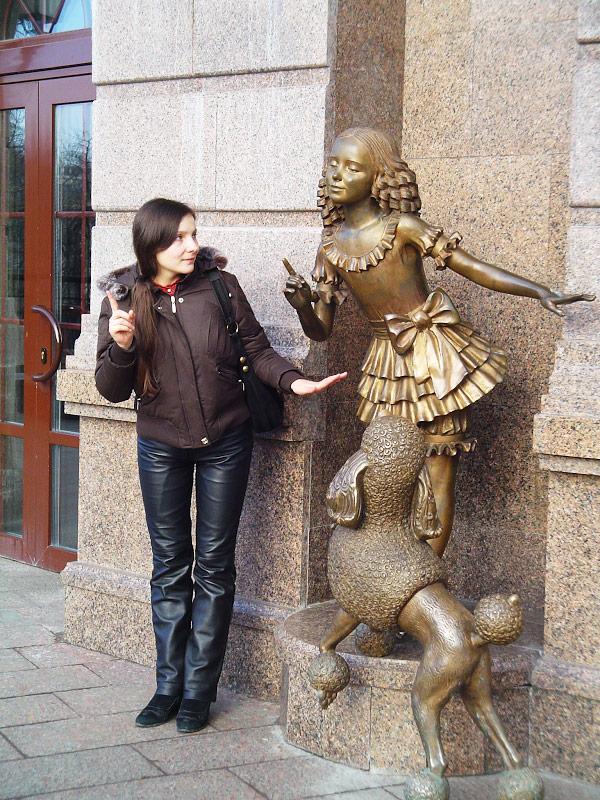 Полина в Киеве - февраль 2008 года