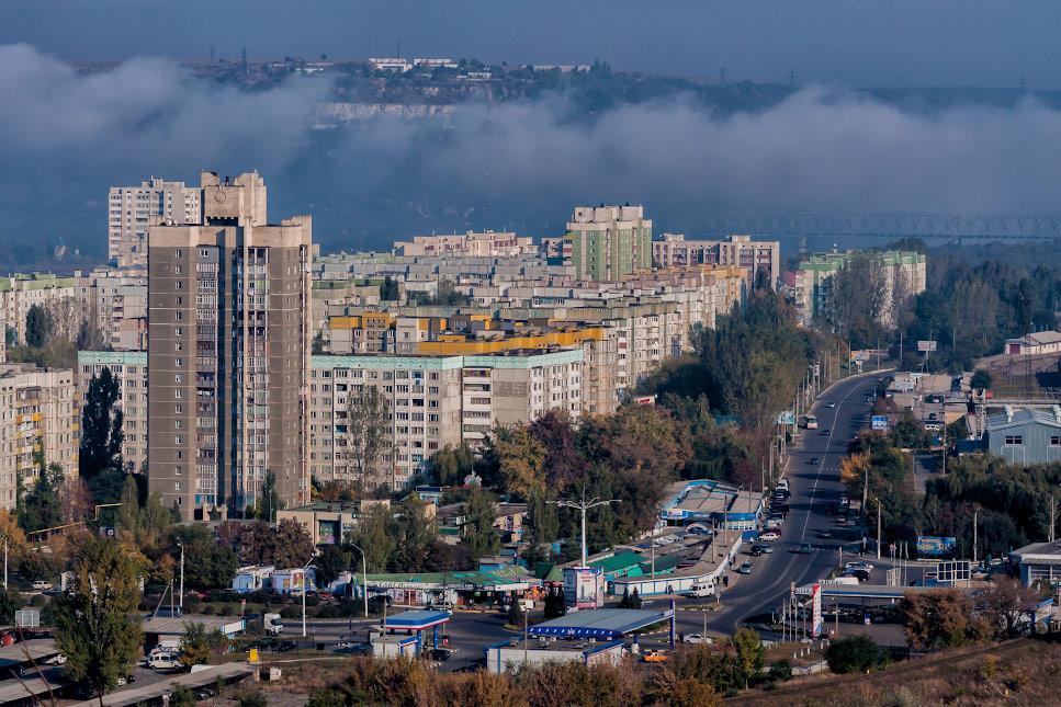 Рыбница - вид с высокой точки на улицу Вальченко