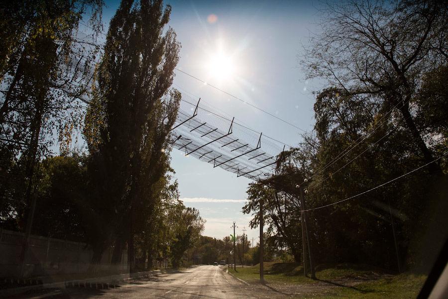 Канатная дорога над дорогой Рыбница - Ержово
