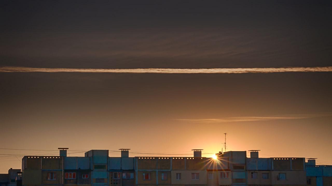 Осеннее утреннее солнце в Тирасполе