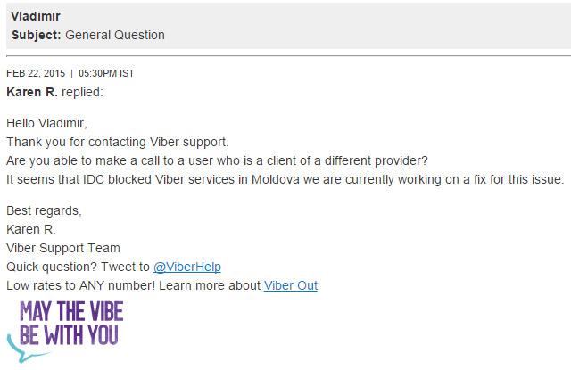 Почему в Приднестровье не работал Viber