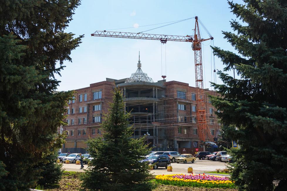 Строительство нового здания в Тирасполе